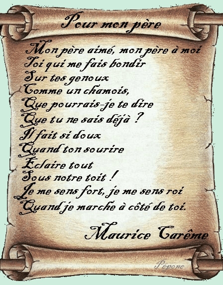 Poemes - Poeme anniversaire papa ...